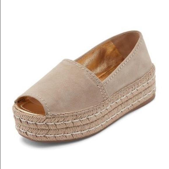dabc383b4a4 PRADA Suede Espadrille Platform Shoes